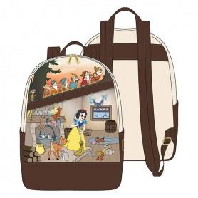 Disney Loungefly - Mini Sac A Dos Snow White Multi Scene - 23x26x11CM