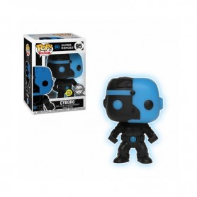 DC Comics POP HEROES - Cyborg Glow In The Dark Justice League Silhouette Exclu Pop - 10CM