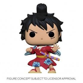 One Piece POP! Television Vinyl figurine Luffy in Kimono 9 cm