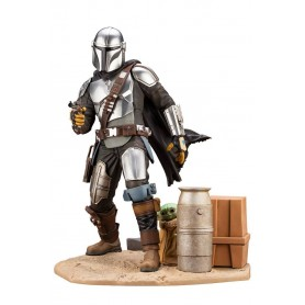 Star Wars The Mandalorian statuette PVC ARTFX 1/7 Mandalorian & The Child 26 cm