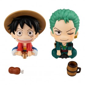 One Piece statuettes PVC Look Up Luffy & Zoro Limited Ver. 11 cm