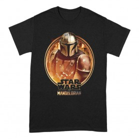 Star Wars The Mandalorian T-Shirt Framed (M)