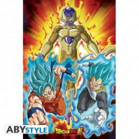 DRAGON BALL SUPER - Poster - Golden Freezer- roulé filmé  91.5x61