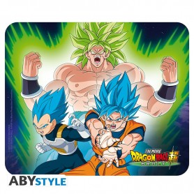 DRAGON BALL BROLY - Flexible mousepad - Broly VS Goku et Vegeta