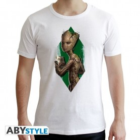 MARVEL - Tshirt Groot Ado homme MC white - new fit - Taille    XXL