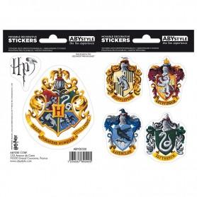 HARRY POTTER - Stickers - 16x11cm/ 2 planches - Poudlard Maisons X5