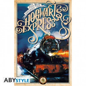 HARRY POTTER - Poster « Poudlard Express retro»  91.5x61