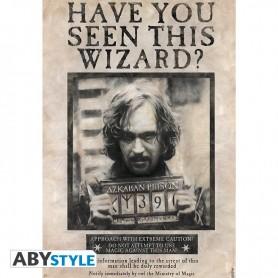 HARRY POTTER - Poster « Wanted Sirius Black » roulé filmé  91.5x61