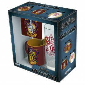 HARRY POTTER - Pck Verre 29cl + Coaster + Mini Mug Gryffondor
