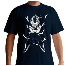 M-DRAGON BALL - Tshirt DBZ/Vegeta homme MC navy - basic - Taille : Me