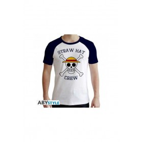 XS-ONE PIECE - Tshirt Skull homme MC blanc et bleu - premium