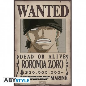 ONE PIECE - Poster Wanted Zoro New (52x35)