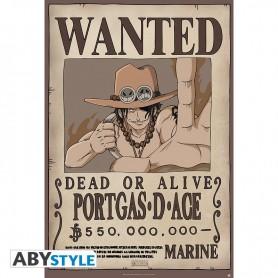 ONE PIECE - Poster Wanted Ace roulé filmé (91.5x61)