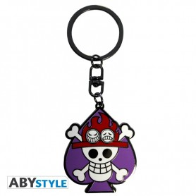 ONE PIECE - Porte-cles Skull Ace X4