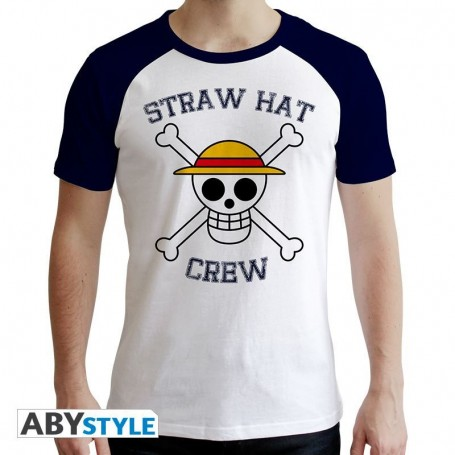 XL-ONE PIECE - Tshirt Skull homme MC blanc et bleu - premium - XL