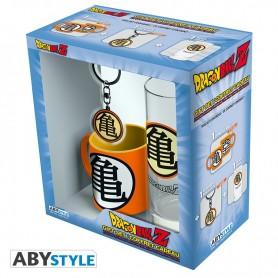 DRAGON BALL - Pck Verre 29cl + Keyring + Mini Mug Kame Symbol