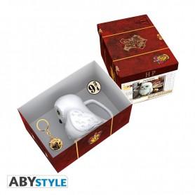 HARRY POTTER - Pck premium Mug 3D+Porte-clés3D+Pin's valise d'Harry