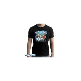 M-DRAGON BALL SUPER - Tshirt Goku et Vegeta homme MC black