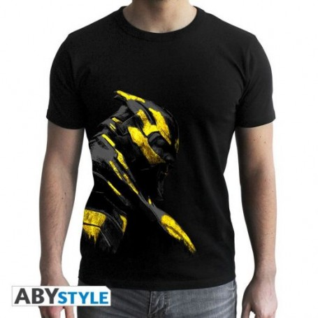 MARVEL - Tshirt Thanos Or homme MC black- new fit - Taille : XXL