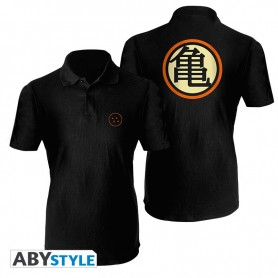 "DRAGON BALL Polo ""Boule de Cristal"" homme MC noir L"