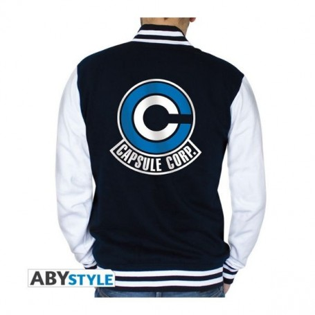 """DRAGON BALL Teddy """"Capsule Corp"""" homme navy/white Taille : Medi"""