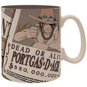 ONE PIECE Mug  Wanted Ace porcl. avec
