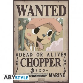 """ONE PIECE Poster """"Wanted Chopper New"""""""