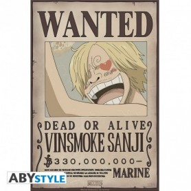"""ONE PIECE Poster """"Wanted Sanji New 2"""""""