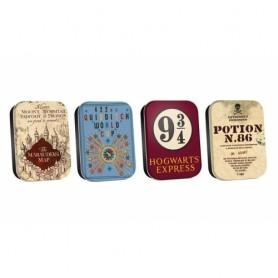 Harry Potter pack 4 boîte de rangement Map