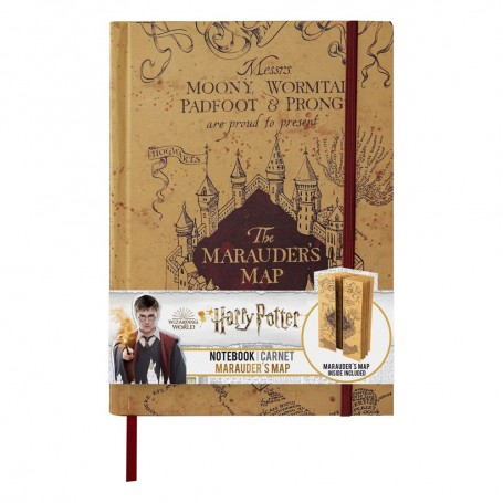 Harry Potter carnet de notes A5 Marauder's Map
