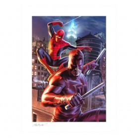 Marvel impression Art Print Daredevil & Spider-Man 46 x 61 cm non encadrée
