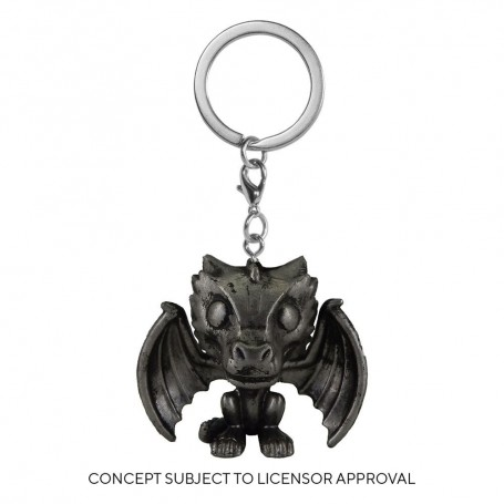 Game of Thrones présentoir porte-clés Pocket POP! Vinyl Drogon (Iron) 4 cm (12)