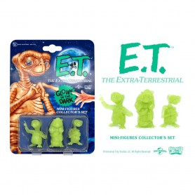E.T. l´extra-terrestre pack 3 mini figurines Collector's Set Glowing Edition 5 cm