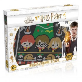 Harry Potter Puzzle Christmas Jumper 1 - Holiday at Hogwarts (1000 pièces)