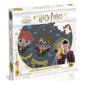 Harry Potter Puzzle rond Christmas Jumper 3 - Christmas at Hogwarts (500 pièces)