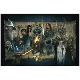 Le Seigneur des Anneaux lithographie Giclee The Fellowship of the Ring 61 x 91 cm