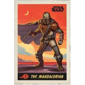 STARW ARS THE MANDALORIAN PLAYING CARDS MAXI POSTER