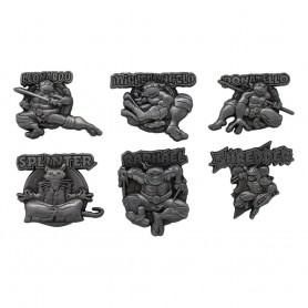 Les Tortues ninja pack 6 pin's Limited Edition