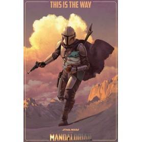 Star Wars The Mandalorian posters On The Run 61 x 91 cm (pack de 5)