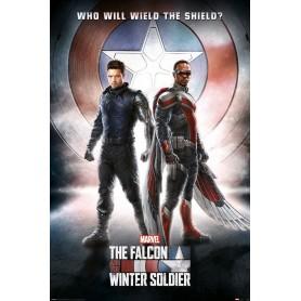 Le Faucon et le Soldat de l'Hiver posters Wield The Shield 61 x 91 cm (pack de 5)