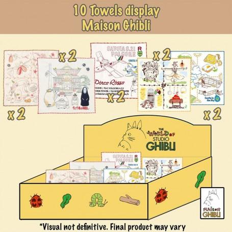Studio Ghibli présentoir serviettes de toilette mains 25 x 25 cm (10)