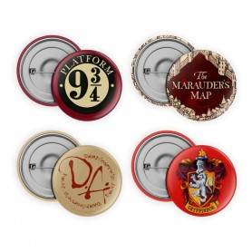 Harry Potter pack 4 badges Collection