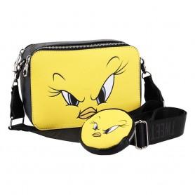Lonney Tunes set sac à bandoulière IBiscuit & porte-monnaie Cookie Tweety Angy Face