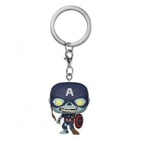 Marvel What If...? présentoir porte-clés Pocket POP! Vinyl Zombie Captain America 4 cm (12)