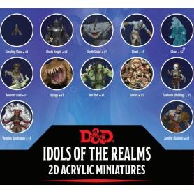 D&D Idols of the Realms miniatures 2D : Boneyard: 2D Set 1
