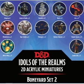 D&D Idols of the Realms miniatures 2D : Boneyard: 2D Set 2