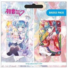 Hatsune Miku pack 2 pin's Set B