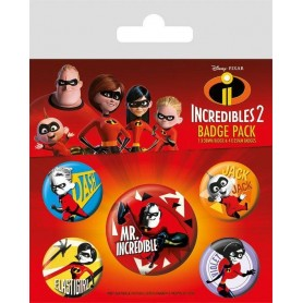 Les Indestructibles 2 pack 5 badges Family